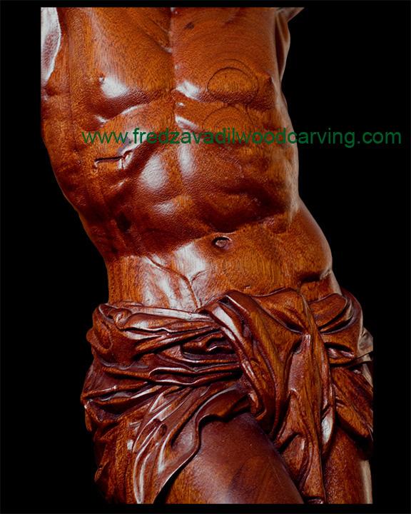 Jesus custom carved corpus honduras mahogany fred